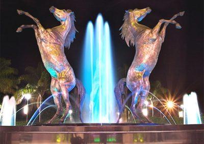 Trinity bronze horses